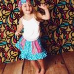 Sewing Pattern for Panelled Skirt w..